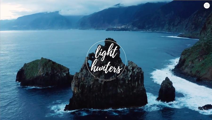 """Bildschirmfoto der Website von """"Light Gunters"""""""
